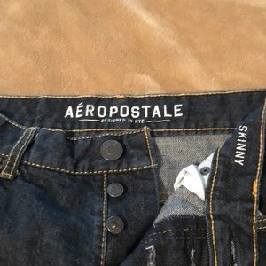 Aeropostale Button Fly Skinny Jeans